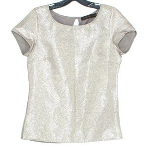 The Limited Womens Top Metallic Gold Brown XS IH